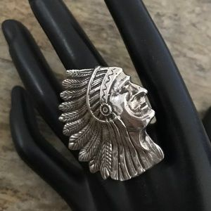 Jewelry - Native American Sterling Silver Indian Head Ring